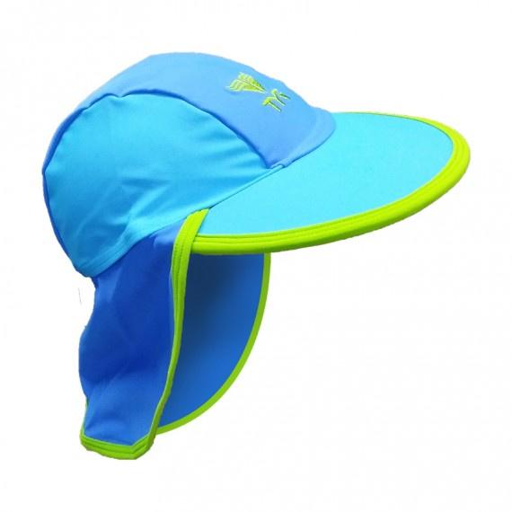 兒童防曬帽 - 藍