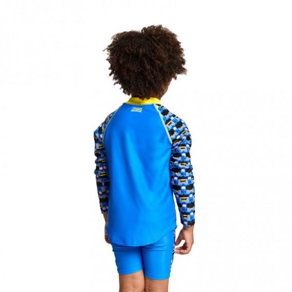 兒童蝙蝠俠長袖防曬上衣 - 藍/黃