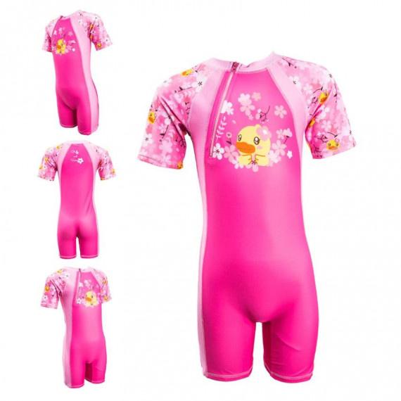 兒童 B. Duck 連身防曬衣 - 粉紅