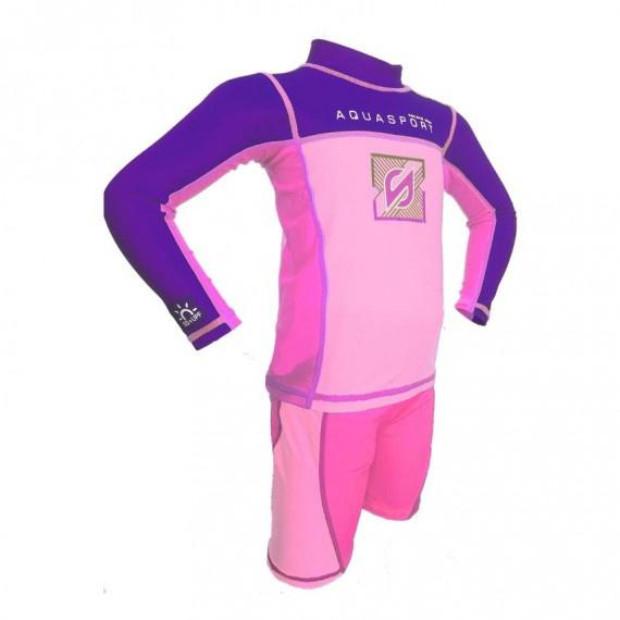 兒童防曬套裝 - 紫/粉紅