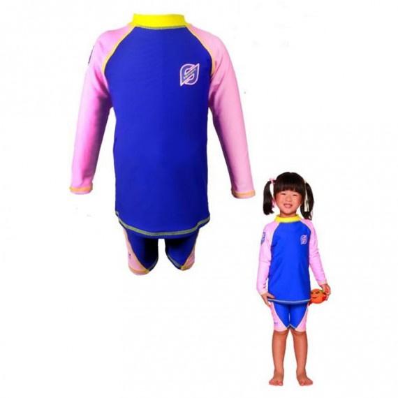 兒童防曬套裝 - 粉紅/藍