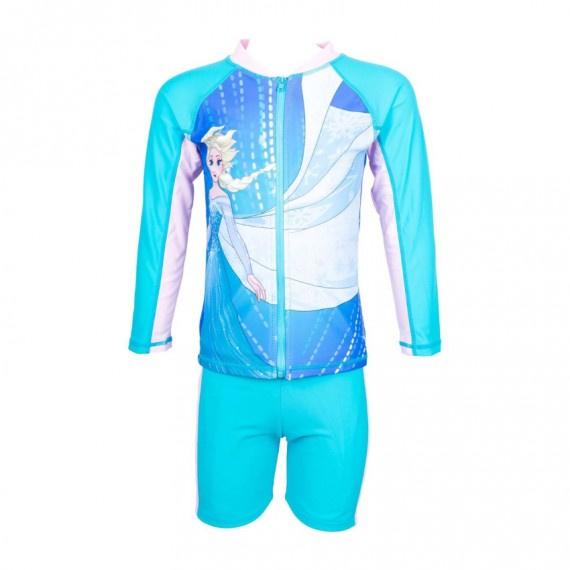 兒童冰雪奇緣防曬套裝 - 湖水藍