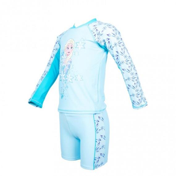 兒童冰雪奇緣防曬套裝 - 淺藍