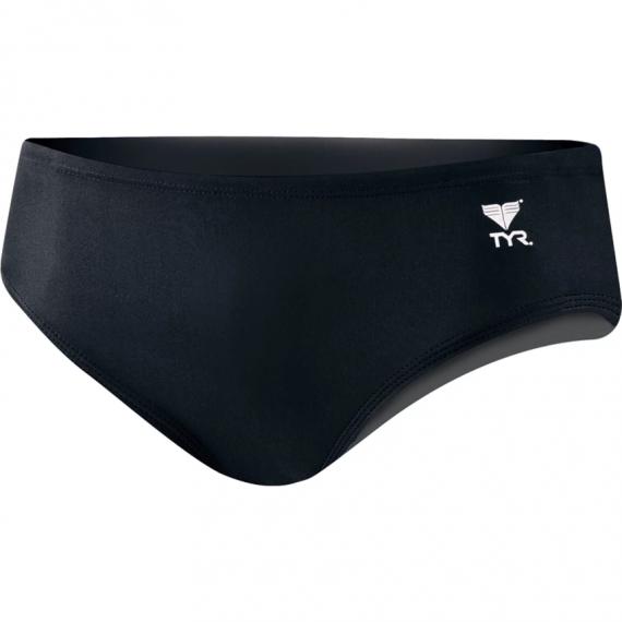 男子基礎訓練三角泳褲 - 黑