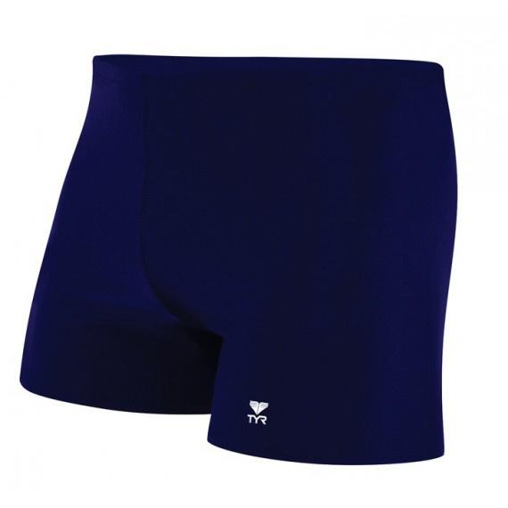 男子平腳泳褲 - 深藍