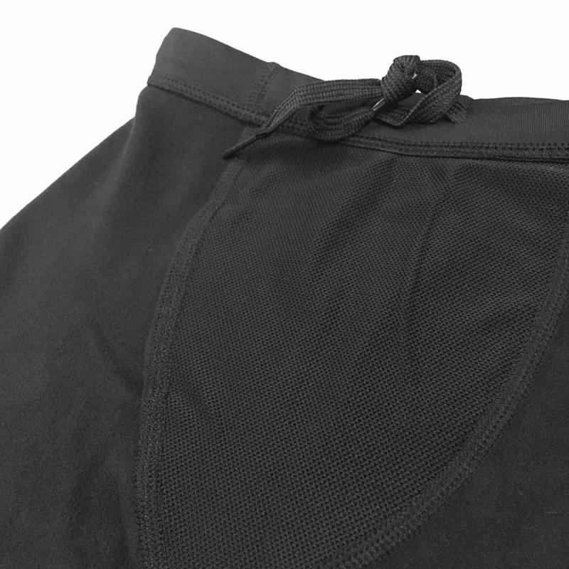 1.0mm 成人抓毛保暖五分泳褲 - 黑