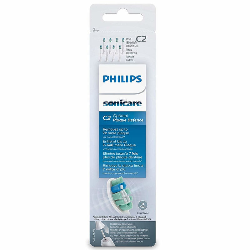 Philips (8支裝) C2 HX9028 Sonicare DiamondClean Toothbrush Heads