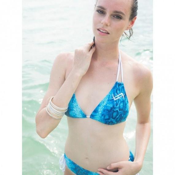 女士比堅尼 Indigo Blue - 藍/白