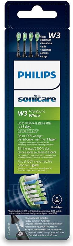 Philips Sonicare W3 (4支裝) 黑色 HX9064/33
