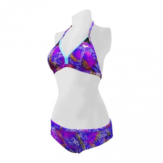 雙面比堅尼泳裝 - 紫/淺藍