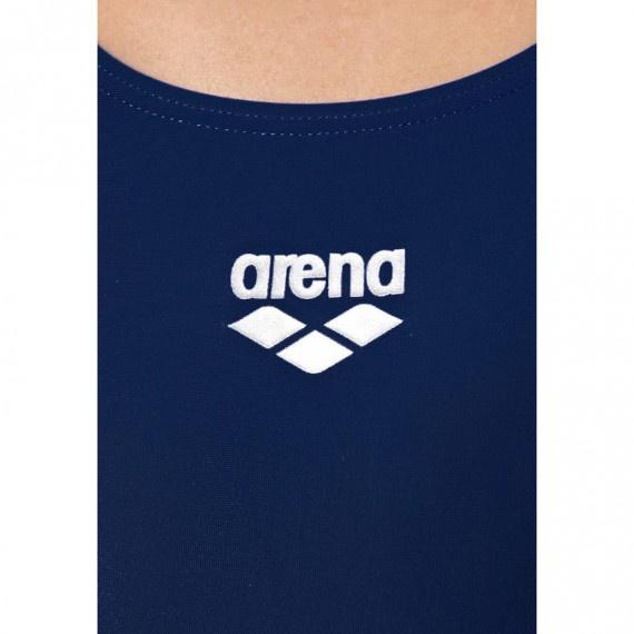 女子基礎訓練X背帶連身泳衣 - 深藍