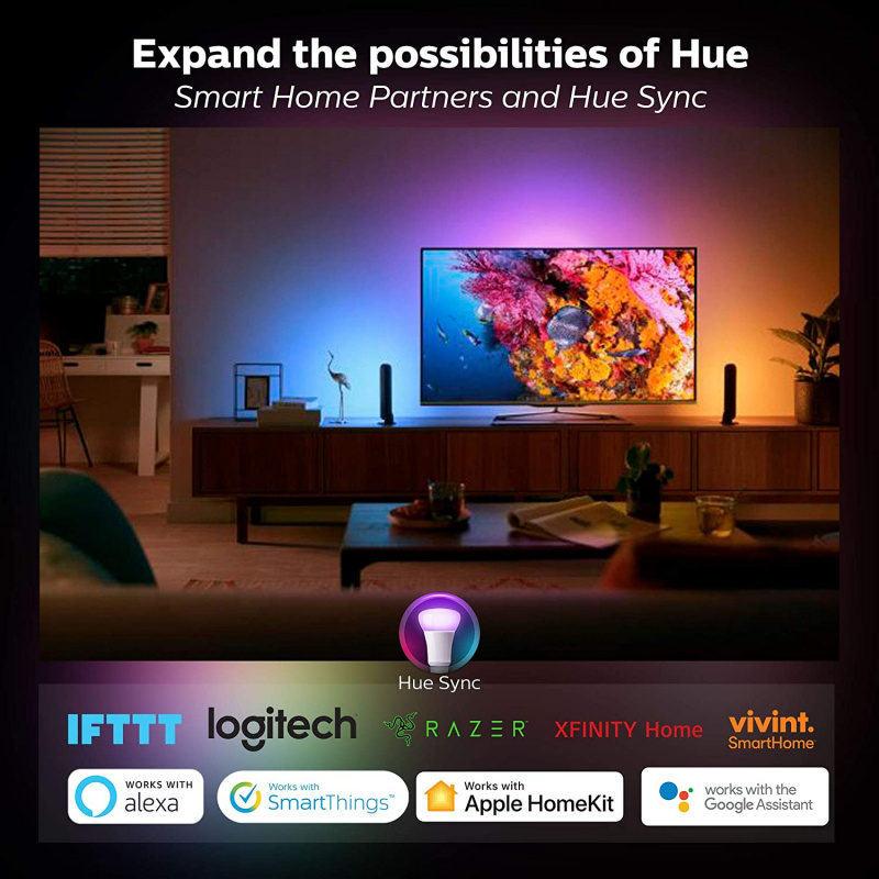 Philips 飛利浦 Hue White and Color Ambiance Play Light Bar Double Pack 78202