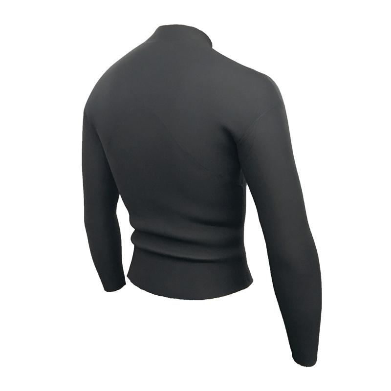 4.0mm 成人韓國製網狀氯丁橡膠防寒夾克 - 黑