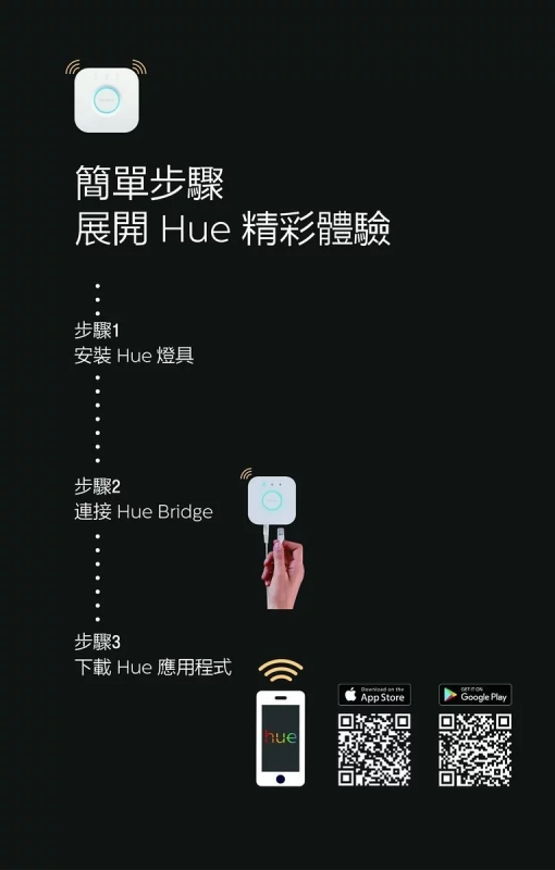 Philips Hue - 藍芽智能白色及彩光LED燈膽 9W E27螺頭 A60
