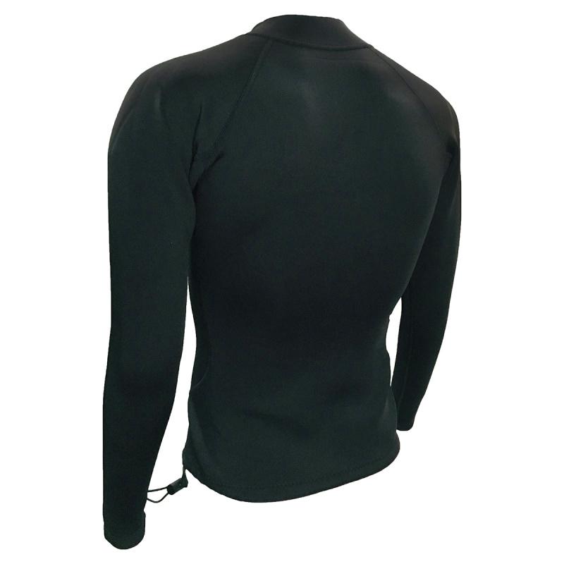 2.0mm 成人高彈性保暖夾克 - 黑