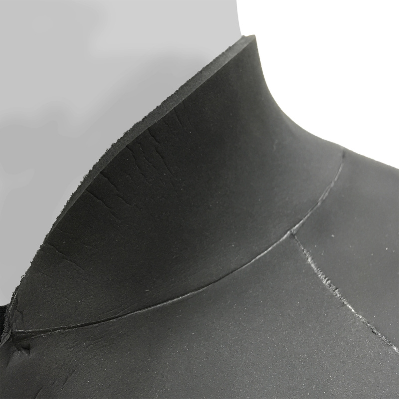 4.0mm 成人日本製氯丁橡膠防寒短袖夾克 - 黑