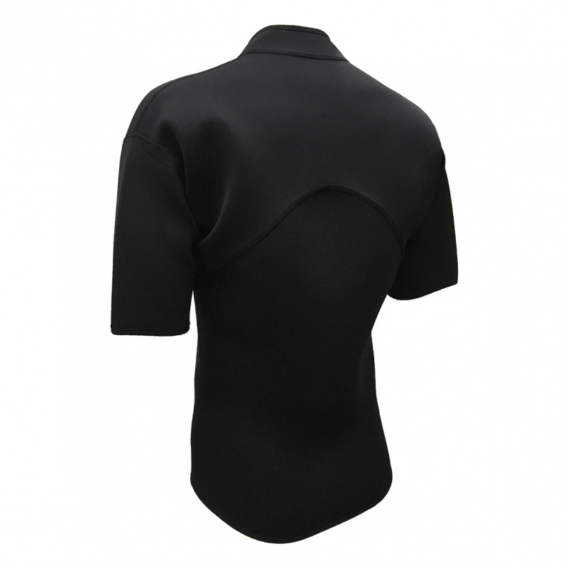 2.5mm 成人鈦防寒短袖夾克 - 黑
