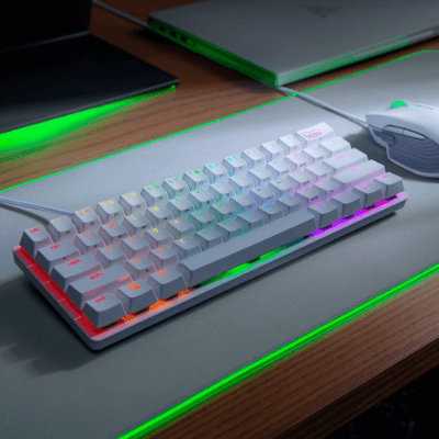 Razer Huntsman Mini - 60% Optical Gaming Keyboard (White)