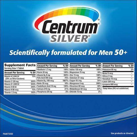 Centrum 銀善存 綜合維他命 (適合50歲以上男士) 250粒