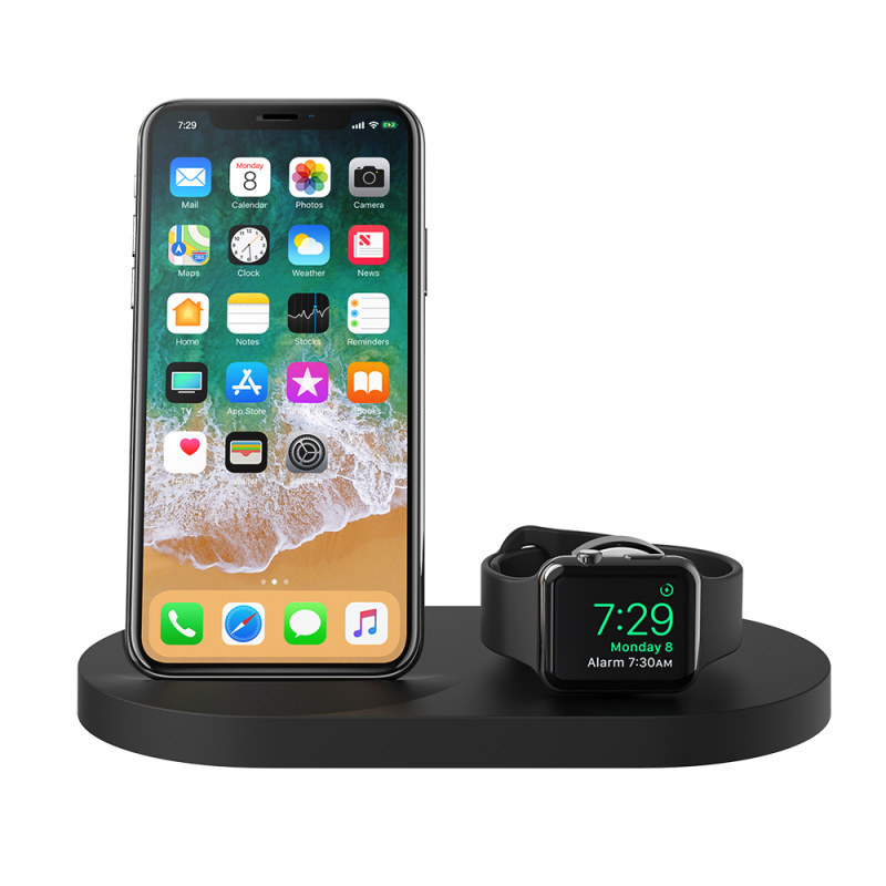 Belkin iPhone + Apple Watch + USB-A 連接埠專用的 BOOST↑UP™ 無線充電底座[F8J235][2色]