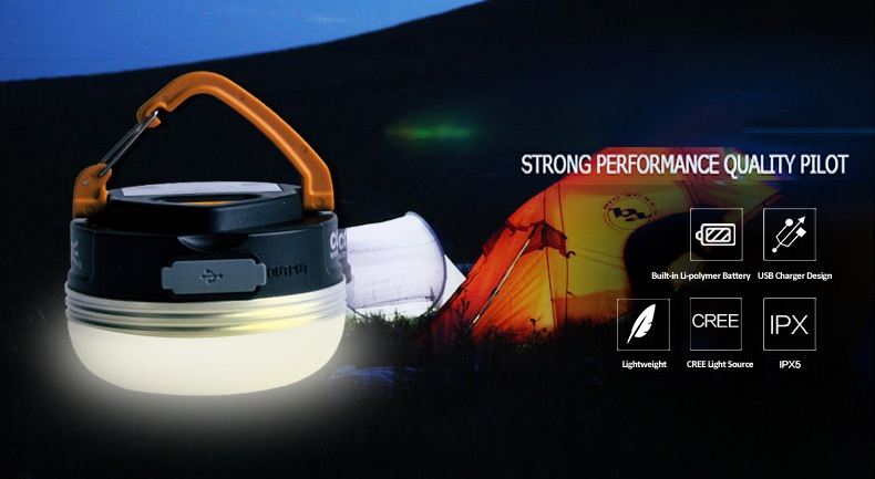 SUNREI CC3 USB充電式便攜戶外露營應急燈💡