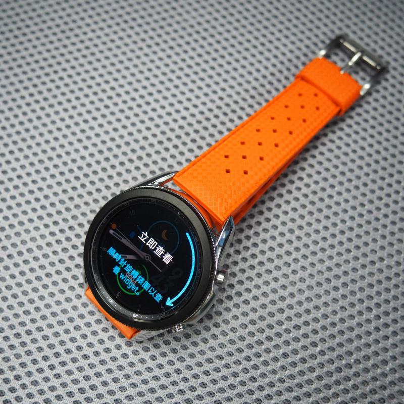 20mm, 22mm 橙色復古橡膠錶帶