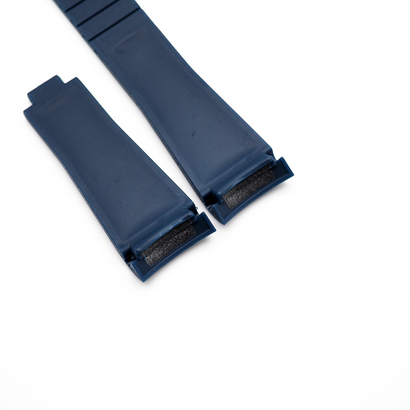 20mm Rolex 軍藍色 Curved Ends 代用膠帶