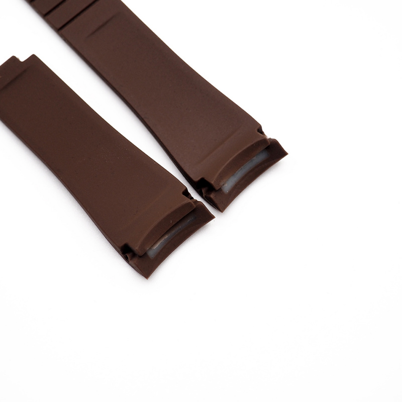 20mm Rolex 啡色 Curved Ends 代用膠帶