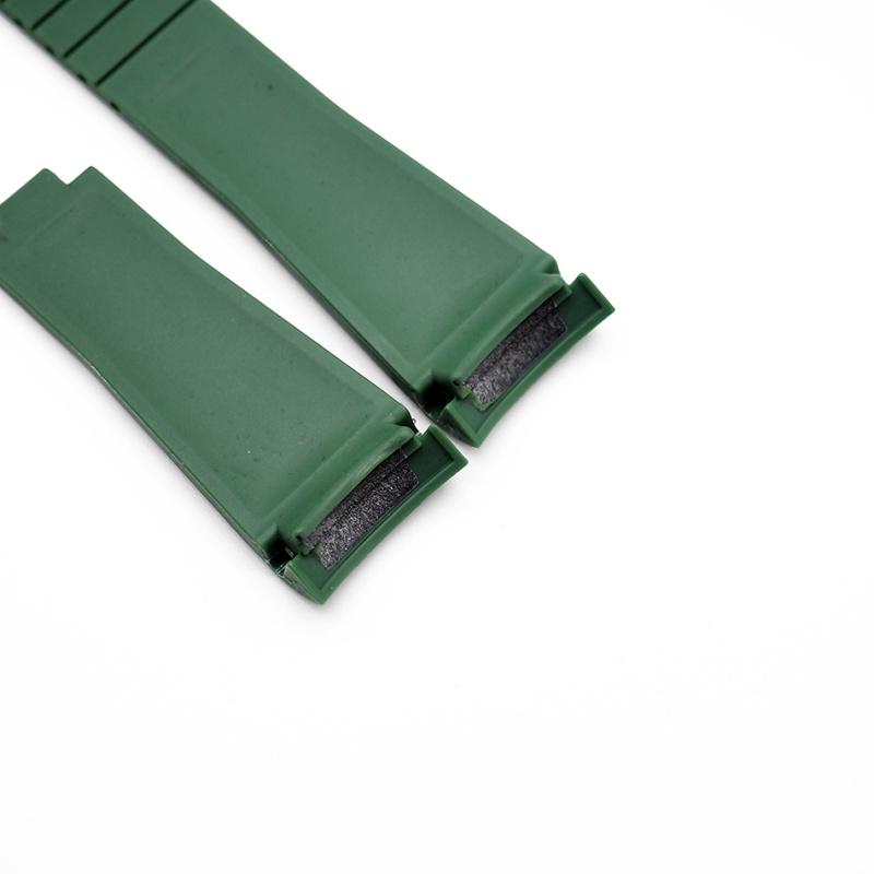 20mm Rolex 軍綠色 Curved Ends 代用膠帶