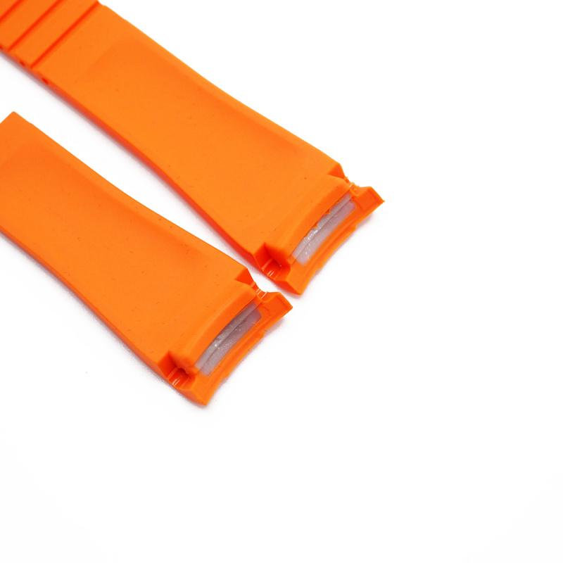 20mm Rolex 橙色 Curved Ends 代用膠帶