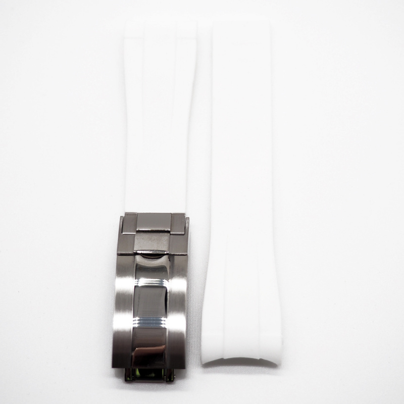 20mm Rolex 白色 Curved Ends 代用膠帶