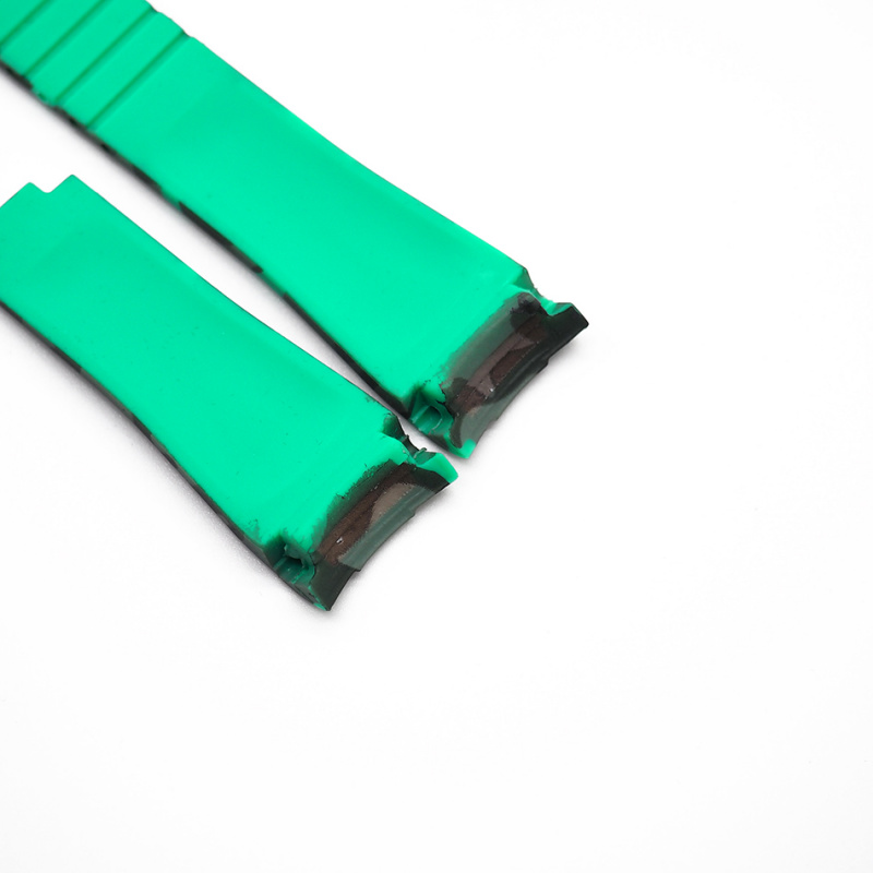20mm Rolex 淺綠迷彩色 Curved Ends 代用膠帶