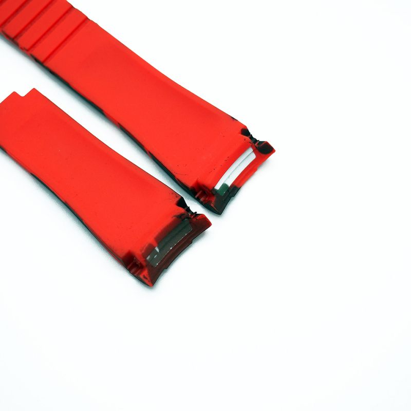 20mm Rolex 紅迷彩色 Curved Ends 代用膠帶