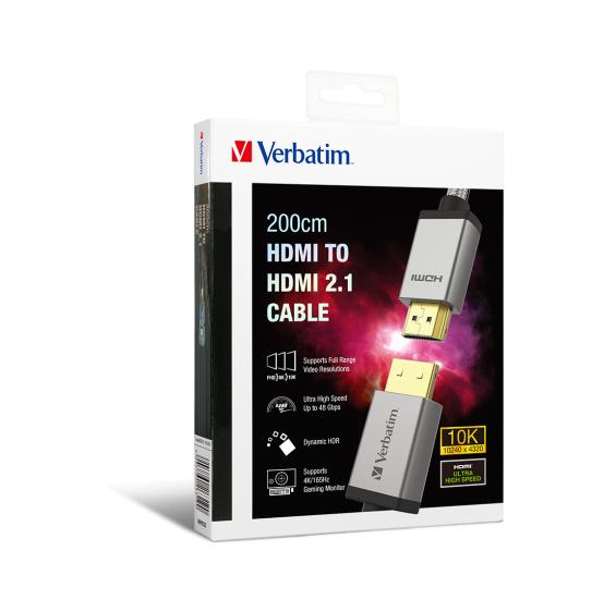 Verbatim 10K HDMI to HDMI 2.1 200cm 傳輸線 [66319]