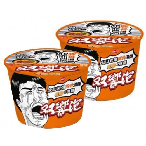 味丹 - 【2碗】雙響泡 - 火山岩燒豚骨湯麵 110g