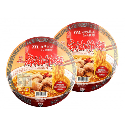台酒 - 【2碗】紅標米酒麻油雞麵 200g