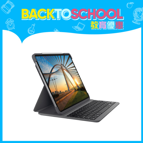 Logitech Slim Folio Pro藍牙鍵盤保護殼 (iPad Pro第 3、4 代用 12.9吋)