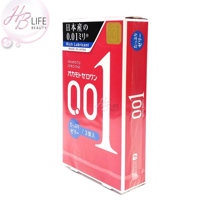 日本 岡本0.01 避孕套(3片)(新版)