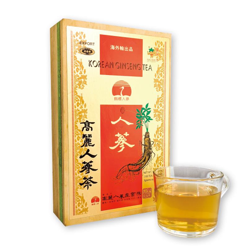 鶴標 - 韓國高麗人蔘茶 木盒送禮裝 [3g x 100包]