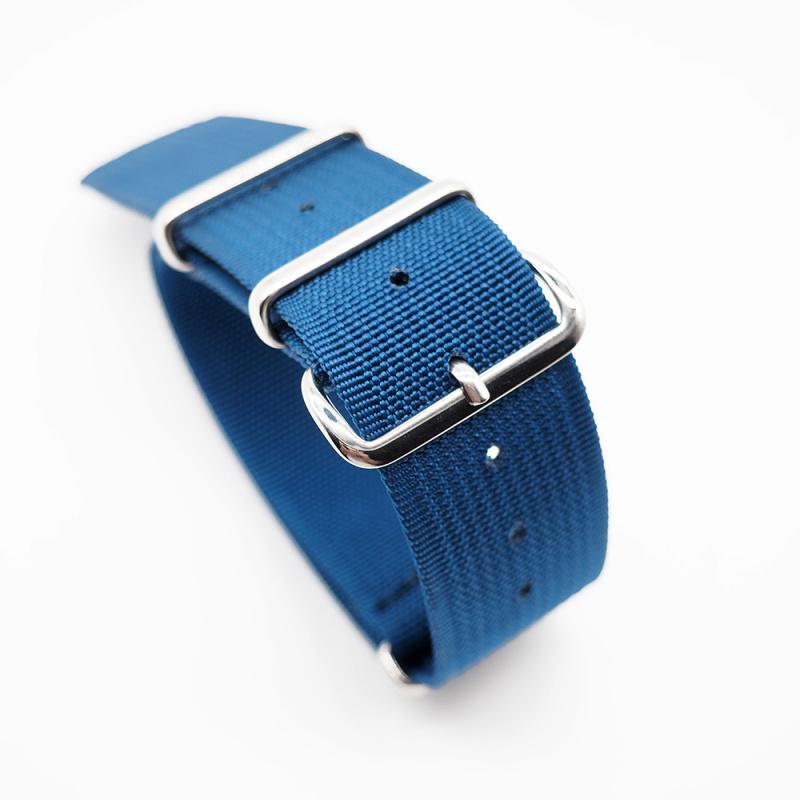 20mm, 22mm 海藍色尼龍 Nato 錶帶