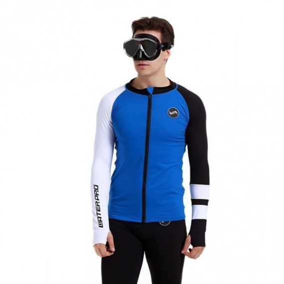 成人速乾防曬保暖夾克 - 藍/黑