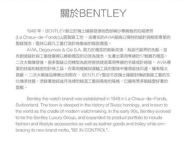 BENTLEY AVIATOR飛行員系列