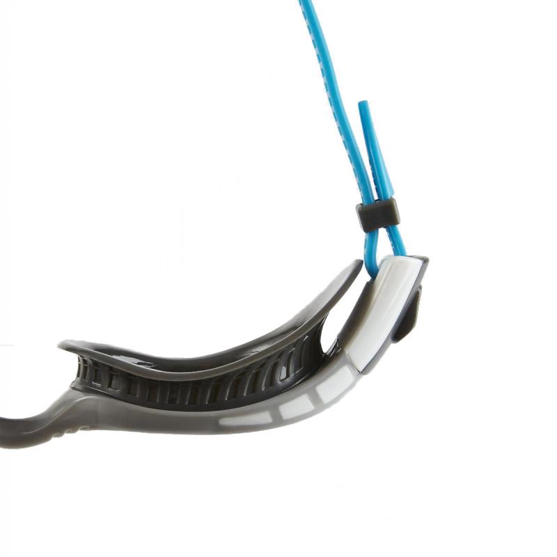 成人柔韌貼合鍍膜泳鏡 3代 - 灰/藍