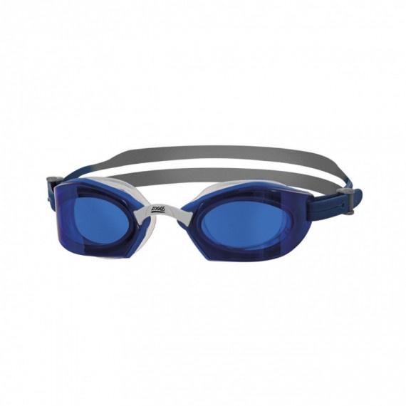 成人創世紀形氣墊鈦鏡面塗層泳鏡 - 藍