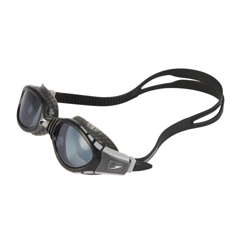 成人柔韌貼合泳鏡 3代 - 黑/燻