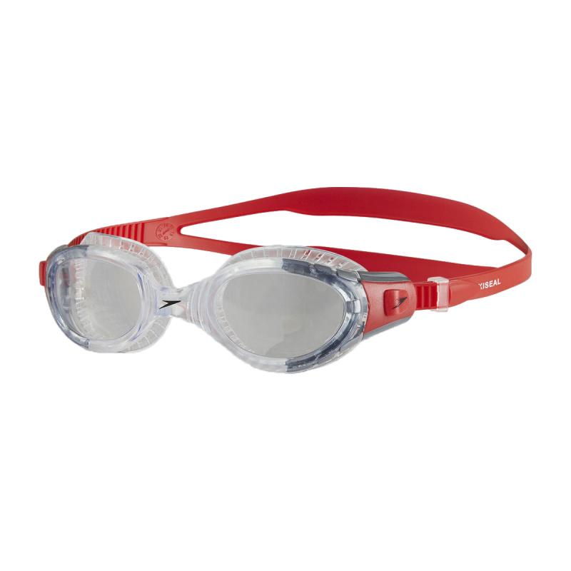 成人柔韌貼合泳鏡 3代 - 紅/透明