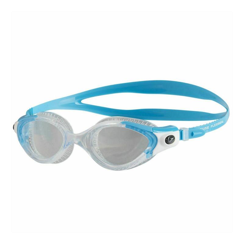 女士柔韌貼合泳鏡 3代 - 藍/透明
