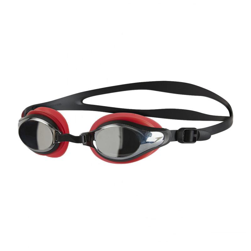 成人 Mariner Supreme 基礎訓練鍍膜泳鏡 - 紅/銀