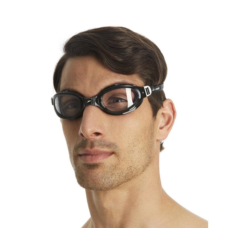 成人柔軟貼合泳鏡 - 黑/透明