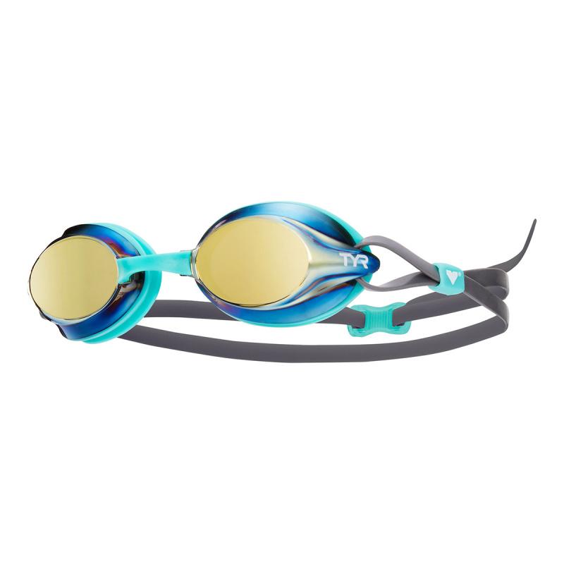 成人競賽鍍膜泳鏡 - 黃金/薄荷/灰